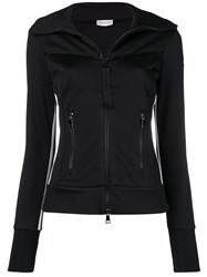 Moncler Zipped Knit Jumper Black