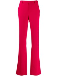 Roberto Cavalli High Waisted Flared Trousers Pink