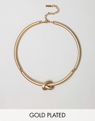 Pilgrim Knot Twist Structured Necklace Gold