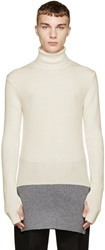 Johnlawrencesullivan Ivory And Grey Turtleneck