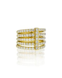 Carelle Moderne 18K Five Row Diamond Ring
