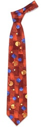 Forzieri Geometric Silk Tie Red