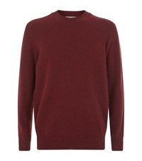 Gieves And Hawkes Crew Neck Sweater Burgundy