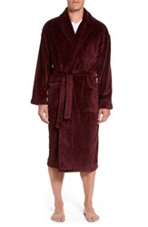 Majestic International Men's Midtown Robe Burgundy Paisley