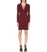 Sandro Day Knitted Dress Bordeaux