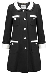 Moschino Cotton Blend Boucle Coat Black