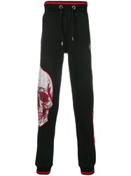 Philipp Plein Skull Embellished Track Pants Black