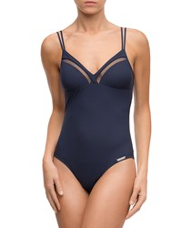 Lise Charmel Elegance A Bord Non Wire One Piece Swimsuit Blue
