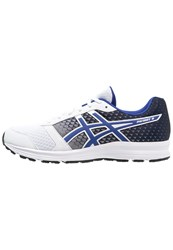 Asics Patriot 8 Cushioned Running Shoes White Blue Black