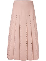Valentino Pleated Skirt Pink Purple