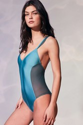 Out From Under Marian Mermaid One Piece Swimsuit Turquoise