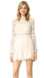 Zimmermann Tropicale Antique Romper Ivory
