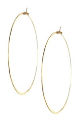 Charlene K 14K Gold Vermeil Polished Hoop Earrings Metallic