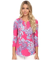 Lilly Pulitzer Kirby Top Capri Pink Women's Clothing
