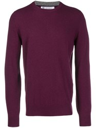 Brunello Cucinelli Long Sleeve Fitted Sweater Purple