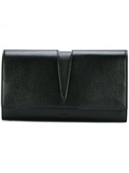 Jil Sander Fold Over Clutch Bag Black