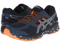 Asics Gt 2000 4 Trail Mediterranean Dark Slate Hot Orange Men's Running Shoes Blue