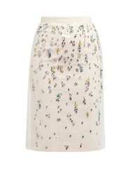 N 21 No. Pvc Layer Crystal Embellished Cotton Skirt Multi