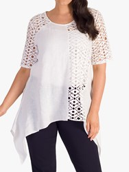 Chesca Linen Tunic White