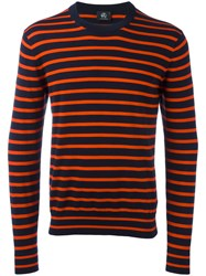 Paul Smith Ps By Striped Jumper Red