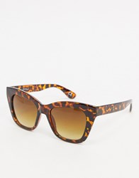 Jeepers Peepers Square Sunglasses In Tort Brown
