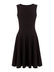 Pied A Terre Fit And Flare Sleeveless Dress Black