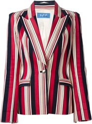 Thierry Mugler Vintage Striped Blazer Red
