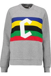 Etre Cecile Paneled Printed Cotton Jersey Sweatshirt Gray