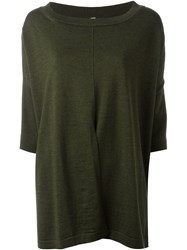 Antonio Marras Split Front Sweater Green