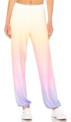 Wildfox Couture Ocean Sunset Easy Sweats In Yellow. Multi
