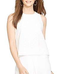 Lauren Ralph Lauren Sleeveless Eyelet Top White
