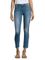 Mother Looker Frayed Ankle Skinny Jeans Birds Of Paradise
