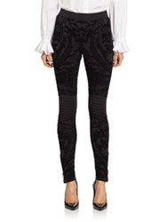 Ralph Lauren Brocade Biker Pants Black