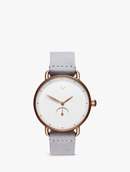 Mvmt 'S Bloom Leather Strap Watch Grey White D Fr01 Rggr