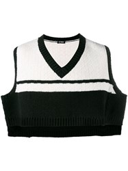 Raf Simons Knitted Cropped Vest Black