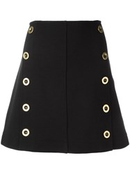 Chloe Military Skirt Black