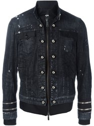 Dsquared2 Dual Fabric Jacket Blue