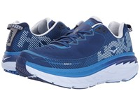 Hoka One One Bondi 5 Blueprint White Running Shoes