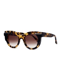 Thierry Lasry Gradient Square Sunglasses Yellow Tortoise Black Yellow Black