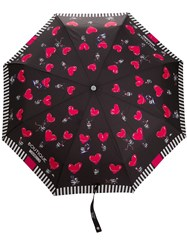 Moschino Heart Air Balloon Umbrella Black