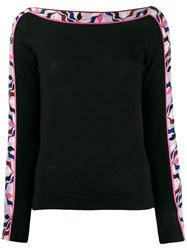 Emilio Pucci Abstract Print Detail Jumper 60