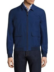 Luciano Barbera Stretch Cotton Jacket Navy