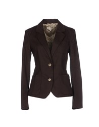 Met And Friends Suits And Jackets Blazers Women Dark Brown