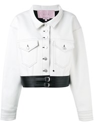 Alyx Cropped Jacket Women Cotton Artificial Leather M White