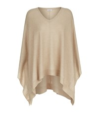 Brunello Cucinelli Sequin Embellished Cape Sweater Beige