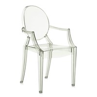 Kartell Louis Ghost Armchair Crystal Green