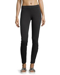 Neiman Marcus Active Side Button Sweatshirt Leggings Charcoal Grey