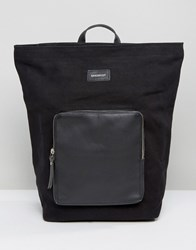 Sandqvist Misha Cotton Canvas And Leather Backpack Black