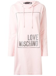 Love Moschino Logo Box Hoodie Dress 60