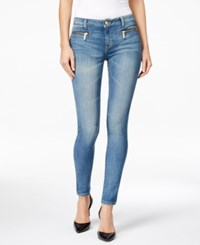 Michael Michael Kors Zipper Pocket Skinny Colored Wash Jeans